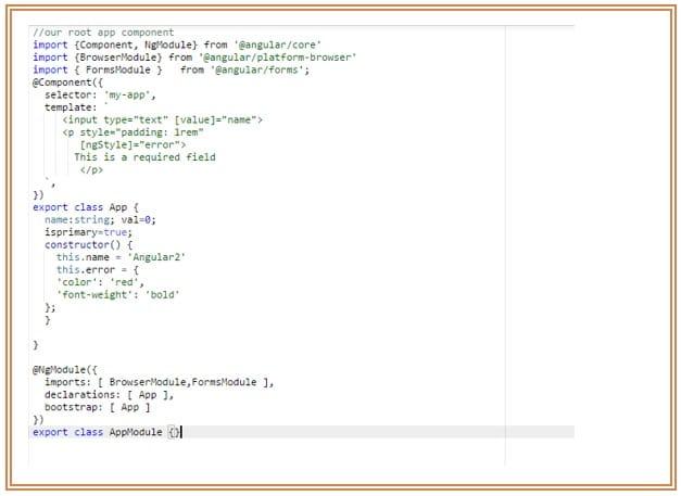 Style Binding in Angular2