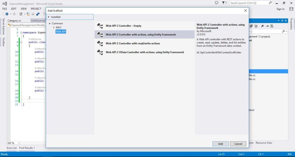 Web API 2 Controller
