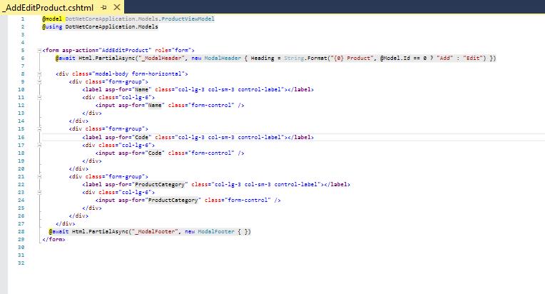 Add Modify ASP.NET Core App