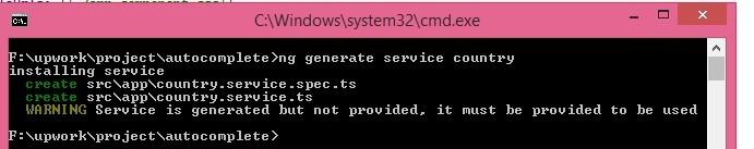 ng generate service