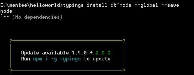 typings install update