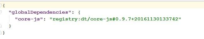 typings json