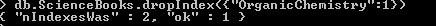 Drop Indexes MongoDB