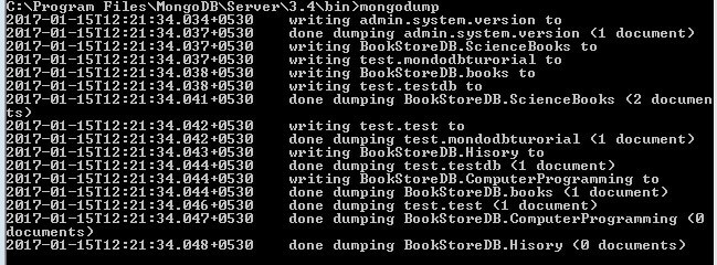 MongoDB Tutorial Taking Dump