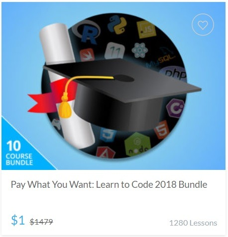 Pay What You Want - Learn to Code 2018 Bundle