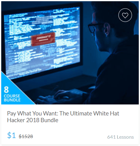 Pay What You Want - The Ultimate White Hat Hacker 2018 Bundle