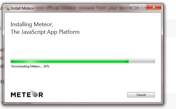 Installing Meteor